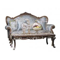Классический мягкий диван с креслами в холл Казанова