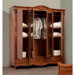 Шкаф одежный четырехдверный в спальню Контесса (CONTESSA)