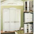 Белый шкаф одежный в мебельный гарнитур Анна