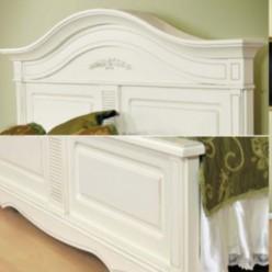 Белая классическая кровать в спальню Анна Мобекс