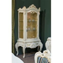 Классическая витрина однодверная в гостиный гарнитур Клеопатра Люкс Румыния