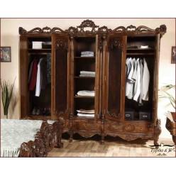 Шкаф четырехдверный резной в спальню Клеопатра Люкс (Cleopatra Lux)
