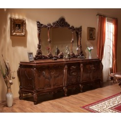 Буфет с позолотой в гостиную в стиле барокко Клеопатра Люкс (Cleopatra Lux)