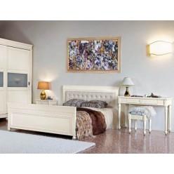 Кровать с кожаным изголовьем Бурбон от Монте Кристо Мобили