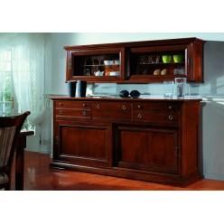 Шкаф для посуды взвешенный в гостиный гарнитур Контессина