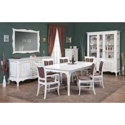 Стол белый раскладной со стульями в гостиную Кора Cora