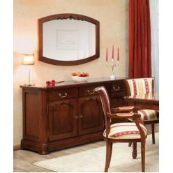Буфет трехдверный с зеркалом в гостиную Дукале (DUCALE)