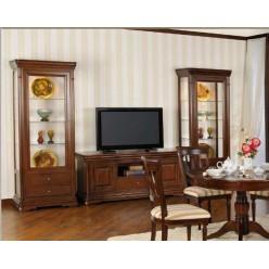Комод ТВ с витринами в гостиную Элегант