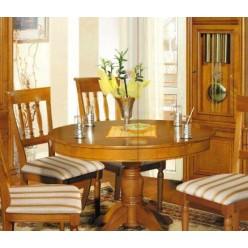 Классический круглый стол  в столовую Элеганс