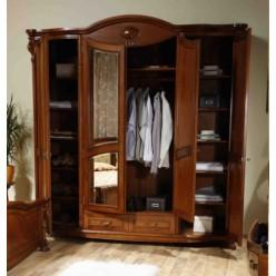 Шкаф одежный четырехдверный в спальню Элис  (Elysee)