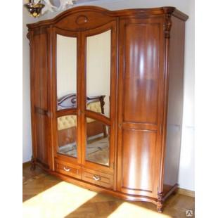 Шкаф одежный четырехдверный в спальню Элис