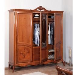 Классический четырехдверный шкаф в спальню Ева