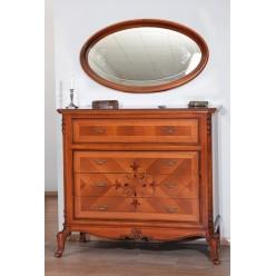 Красивый комод с зеркалом в спальню Ева