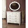 Комод с зеркалом в белую спальню Флора