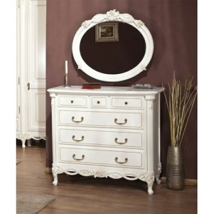 Комод с зеркалом в белую спальню Флора (Flora) Simex
