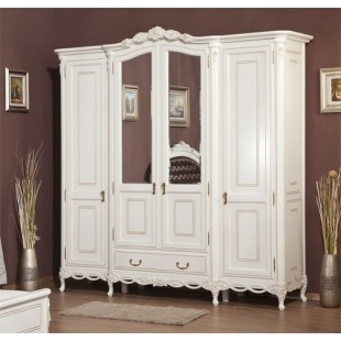Шкаф четырехдверный в спальню Флора Simex