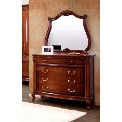 Комод с зеркалом в спальный гарнитур Фирензе  (FIRENZE)