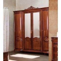 Шкаф четырехдверный в спальню Фирензе