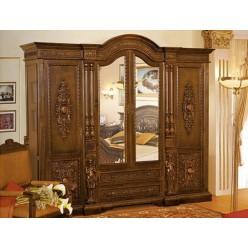 Шкаф одежный четырехдверный в спальный гарнитур Флоренца