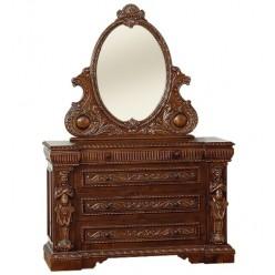 Комод на четыре ящика с зеркалом в коллекцию мебели Флоренца