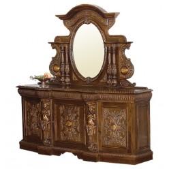 Буфет трехдверный с зеркалом в гостиную Флоренца