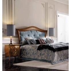 Кровать с  оббитым изголовьем  в спальный гарнитур Франческо