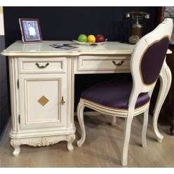 Белый письменный стол в детскую комнату Фреш