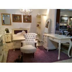 Белая прикроватная тумбочка в спальный гарнитур Фреш