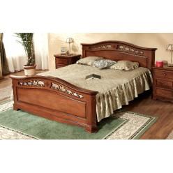 Кровать в цвете орех в спальню Джино (GINO)