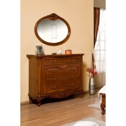 Классический комод с зеркалом в спальню Джулия (GIULIA)