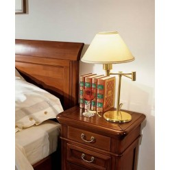 Тумбочка прикроватная в цвете орех для спальни Джиотто