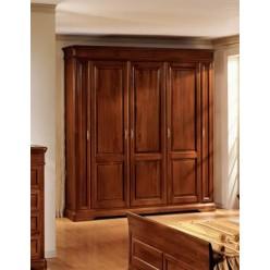 Классический пятидверный шкаф в цвете орех для спальни Джиотто