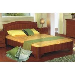 Кровать в цвете орех в спальню Жасмин (Алма)