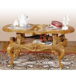 Резной классический кофейный столик в стиле барокко Л. Л.