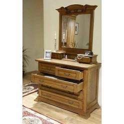 Комод с зеркалом в классический спальный гарнитур Марина (Marina)