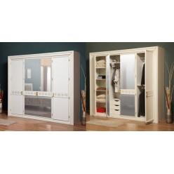 Шкаф для одежды четырехстворочный в спальню Мелоди (MELODY)