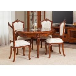 Стол круглый со стульями в гостиную Поэзис