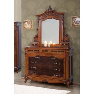 Комод с зеркалом в спальный гарнитур Поэзис (POESIS)