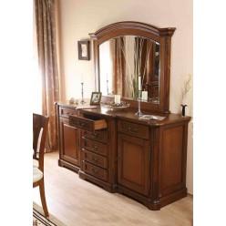 Буфет двухдверный с зеркалом в гостиный гарнитур Рафаэль (RAPHAEL)