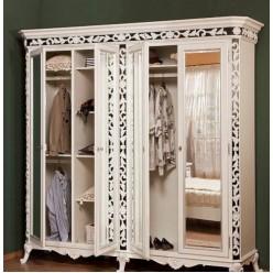 Шкаф четырехдверный в спальный гарнитур Равена (RAVENA)