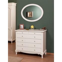 Классический комод с круглым зеркалом в спальню Рита (Rita)