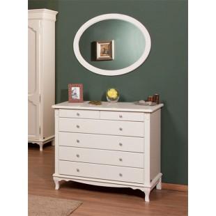 Классический комод с круглым зеркалом в спальню Рита (Rita) Simex