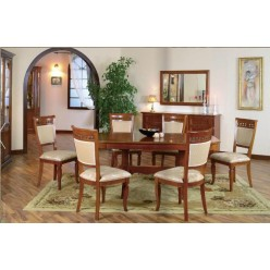 Стол овальный раскладной в гостиную Романтика Люкс