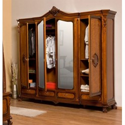 Шкаф для одежды четырехстворочный в спальню София Голд (SOPHIA GOLD)