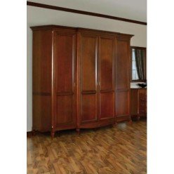 Шкаф четырехстворочный одежный в спальню Вивере
