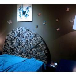 Кровать в круглым изголовьем в спальный гарнитур Авантгард