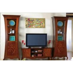 Комод ТВ Плазма с ветринами в гостиную Капри