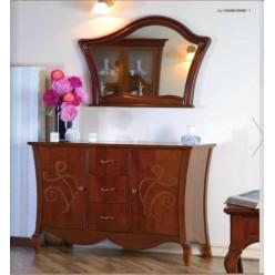 Буфет с зеркалом в гостиный гарнитур Капри