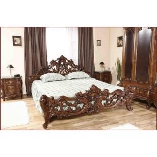 Классическая резная кровать в стиле барокко Клеопатра Люкс Румыния
