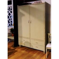 Белый шкаф в спальню Колониале